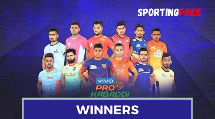 Pro Kabaddi League Winners