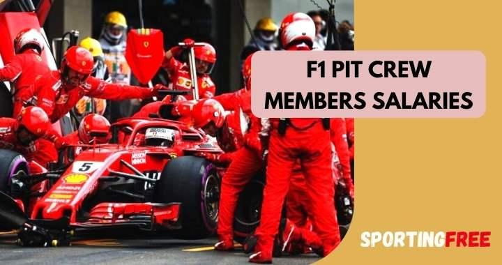 Formula 1 Pit Crew Members Salaries