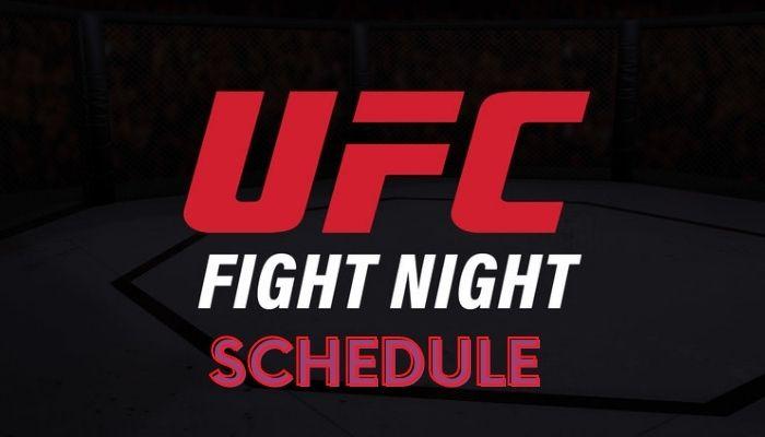 UFC Schedule