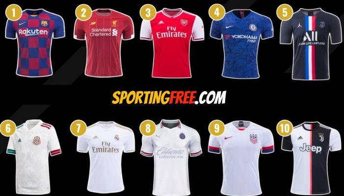 highest selling football clubs jerseys