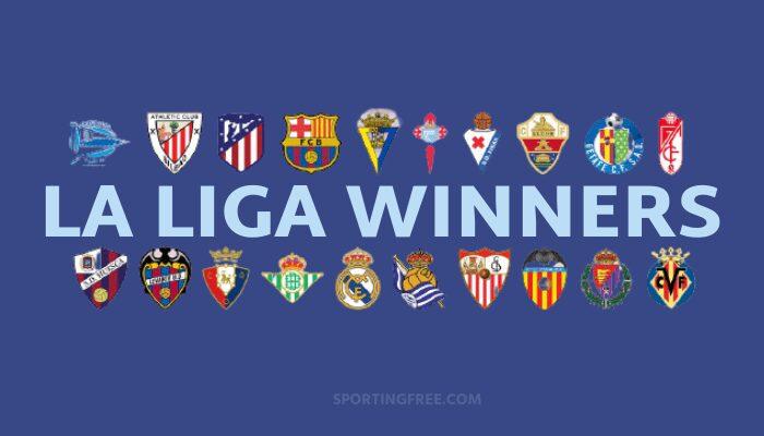 La Liga Winners List